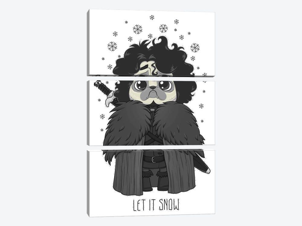 Let It Snow by Nikita Korenkov 3-piece Canvas Artwork