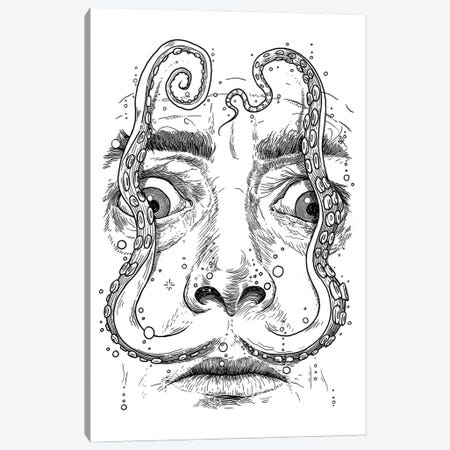Octopus Dali Canvas Print #NKV48} by Nikita Korenkov Art Print
