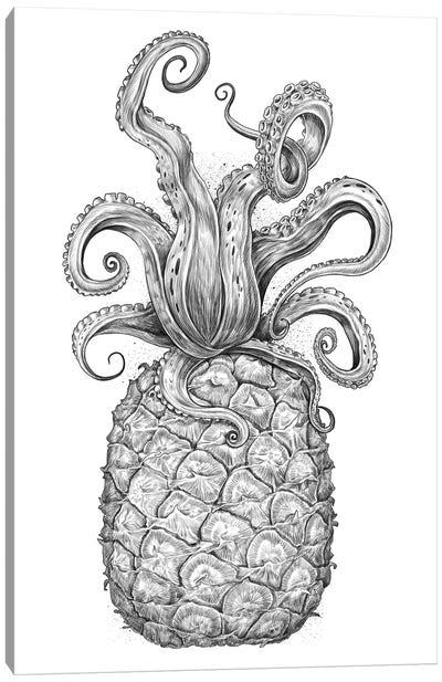 Octopus Pineapple Canvas Art Print