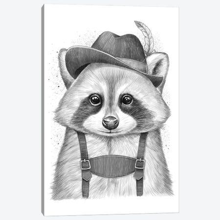 German Raccoon Canvas Print #NKV4} by Nikita Korenkov Art Print