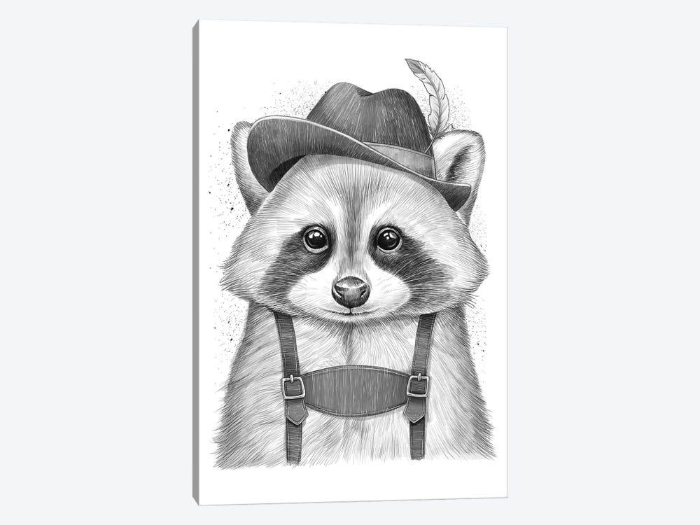 German Raccoon by Nikita Korenkov 1-piece Canvas Print