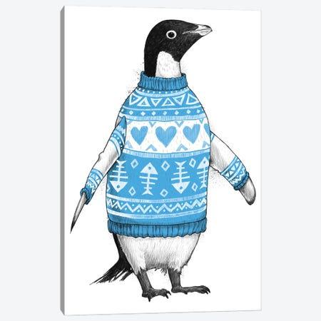 Penguin In A Sweater Canvas Print #NKV54} by Nikita Korenkov Art Print