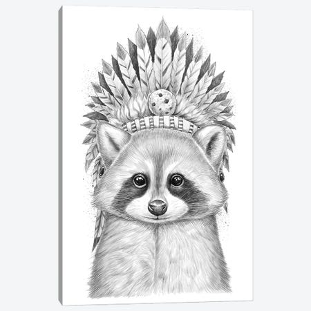 Raccoon Apache Canvas Print #NKV55} by Nikita Korenkov Canvas Print