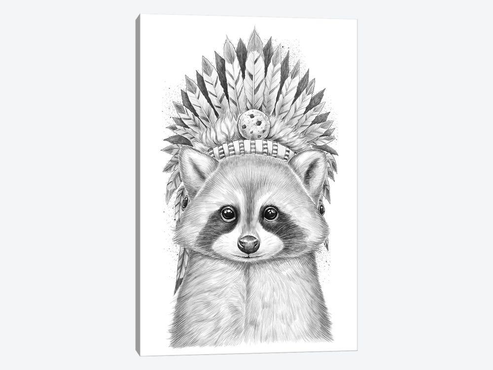Raccoon Apache by Nikita Korenkov 1-piece Canvas Art Print