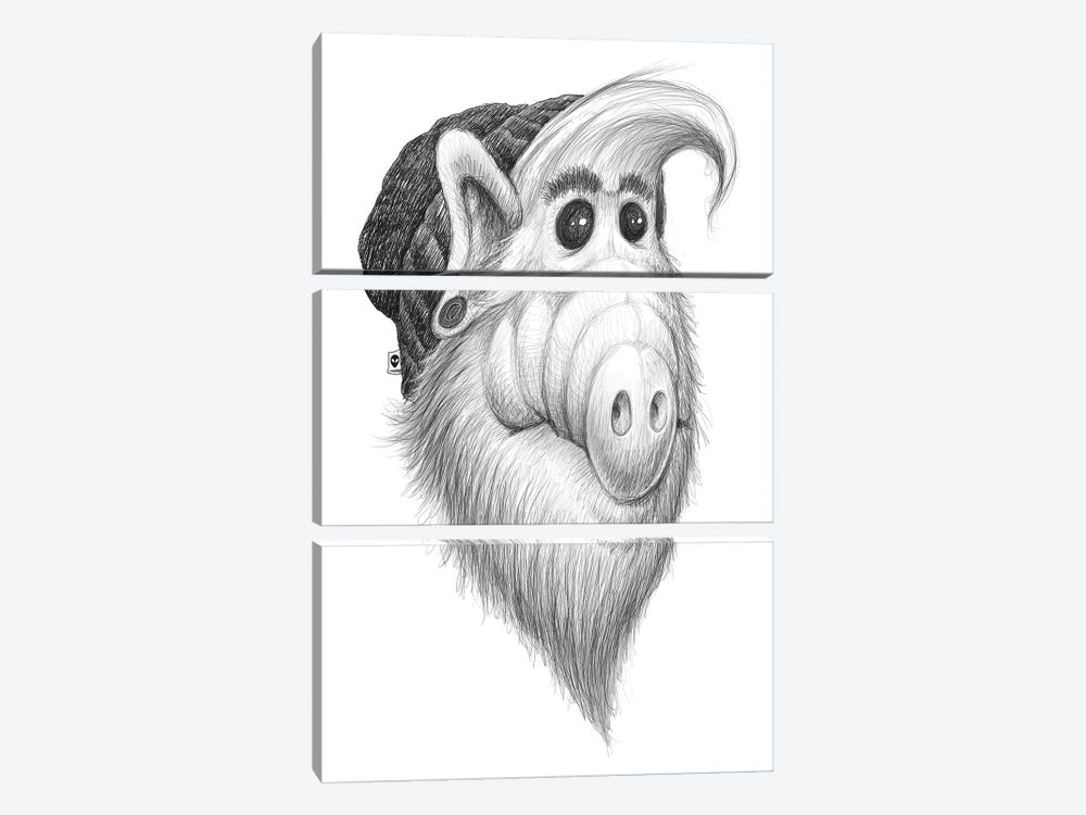Alf by Nikita Korenkov 3-piece Canvas Wall Art