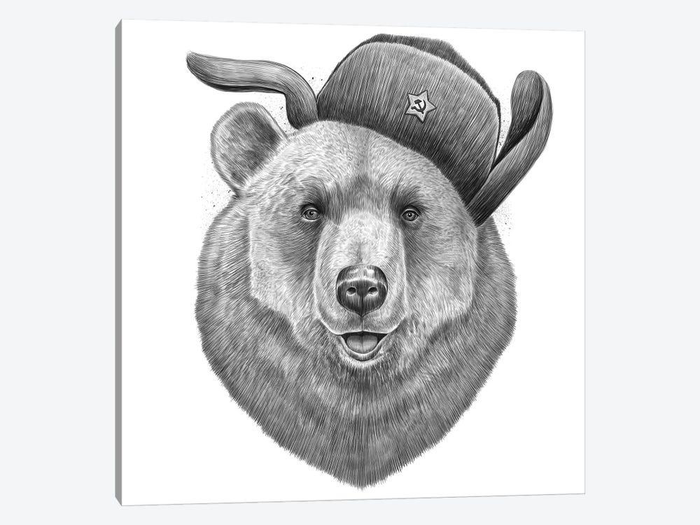 Russian Bear by Nikita Korenkov 1-piece Canvas Print
