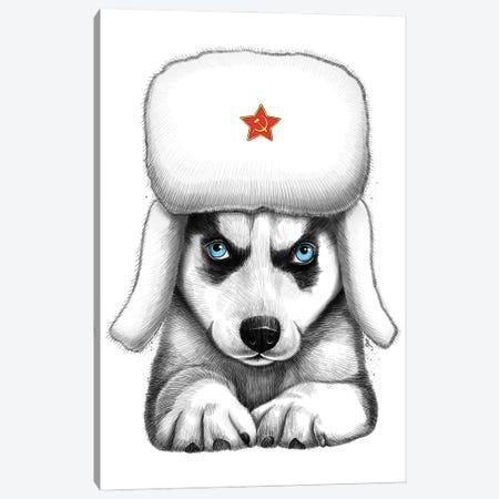 Siberian Husky Canvas Print #NKV64} by Nikita Korenkov Canvas Art