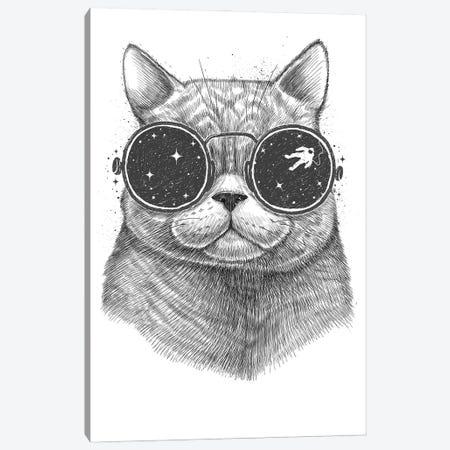Space Cat Canvas Print #NKV65} by Nikita Korenkov Canvas Wall Art