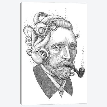 Octopus Van Gogh Canvas Print #NKV70} by Nikita Korenkov Canvas Art