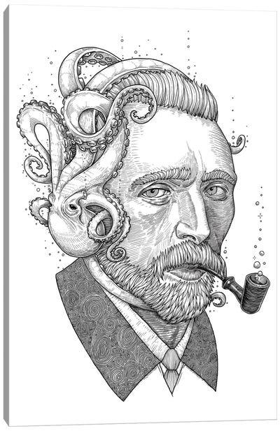 Octopus Van Gogh Canvas Art Print