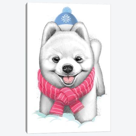 Snow Puppy Canvas Print #NKV73} by Nikita Korenkov Canvas Art