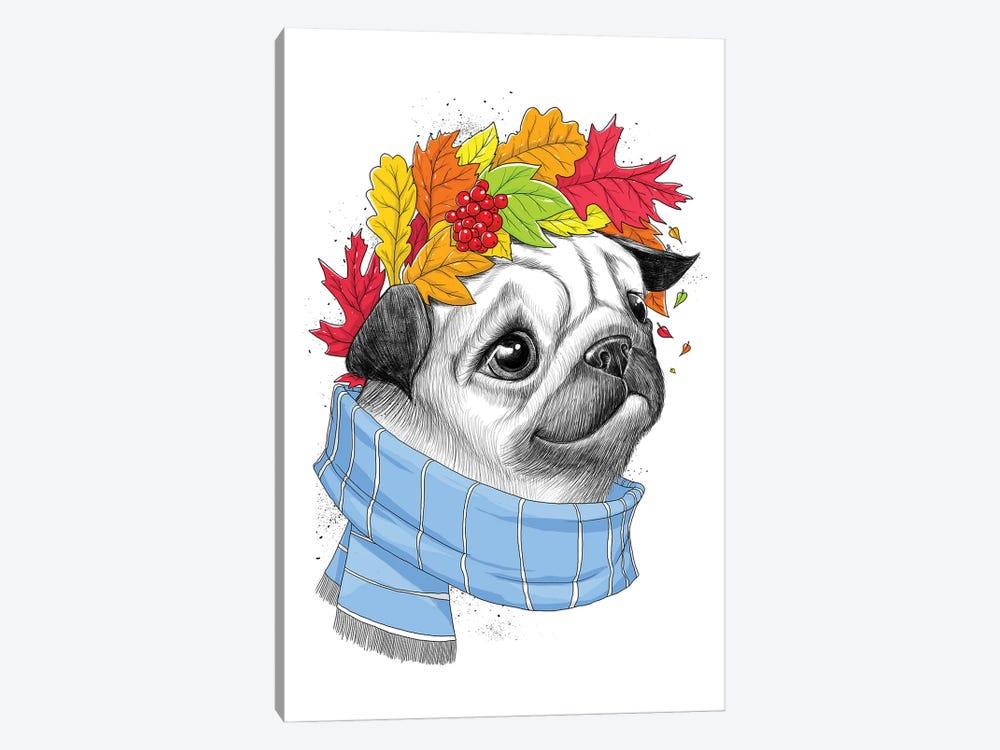 Autumn Pug by Nikita Korenkov 1-piece Art Print