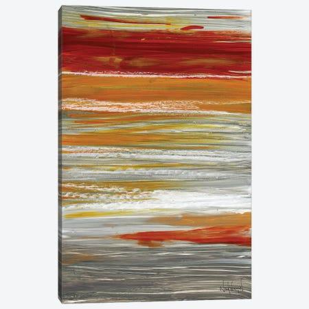 Autumn Stripes Canvas Print #NKW33} by Nikol Wikman Art Print