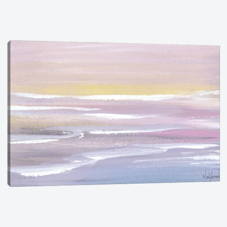 Soft Waves Canvas Print #NKW40} by Nikol Wikman Canvas Artwork