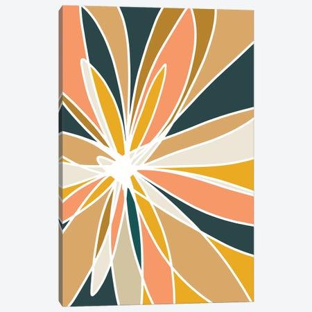 Mod Flower II Canvas Print #NKW49} by Nikol Wikman Canvas Wall Art