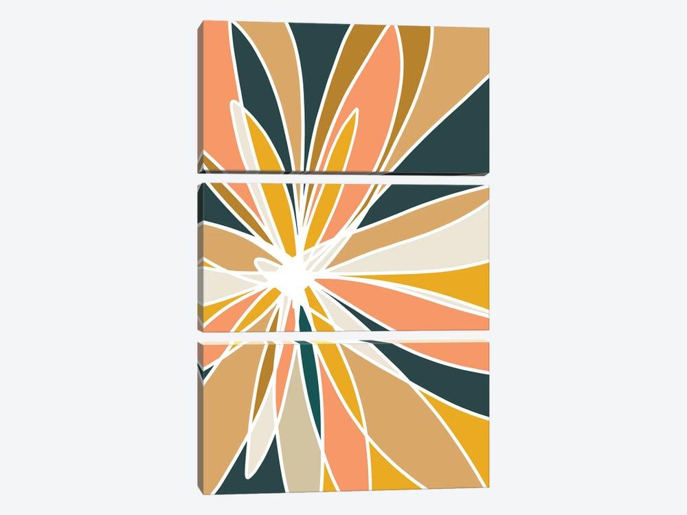 Mod Flower II by Nikol Wikman 3-piece Canvas Art Print
