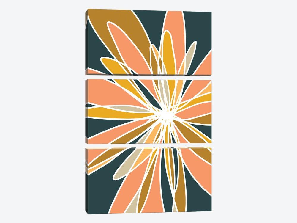 Mod Flower I by Nikol Wikman 3-piece Canvas Print