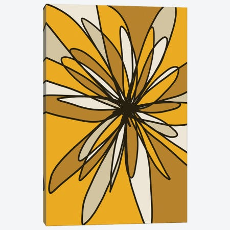 Yellow Flower I Canvas Print #NKW51} by Nikol Wikman Canvas Art Print
