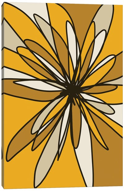 Yellow Flower I Canvas Art Print