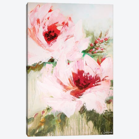 Blossoming Together Canvas Print #NKW7} by Nikol Wikman Canvas Artwork