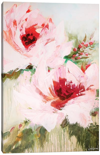 Blossoming Together Canvas Art Print