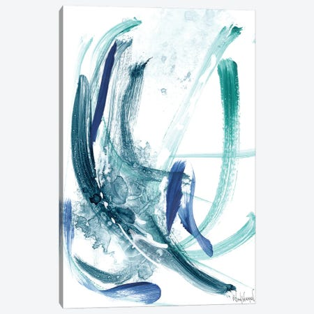 Blue Abstract VIII Canvas Print #NKW90} by Nikol Wikman Canvas Art Print