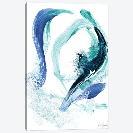 Blue Abstract VII Canvas Print #NKW92} by Nikol Wikman Canvas Art Print
