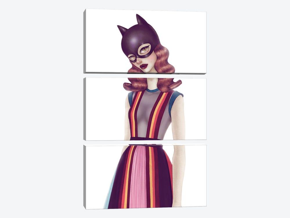 Batgirl II by Skinny Nicky 3-piece Canvas Art