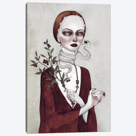 Just One Bite Canvas Print #NKY17} by Skinny Nicky Canvas Artwork