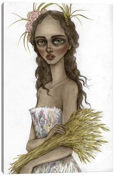 Lady Harvest Canvas Art Print