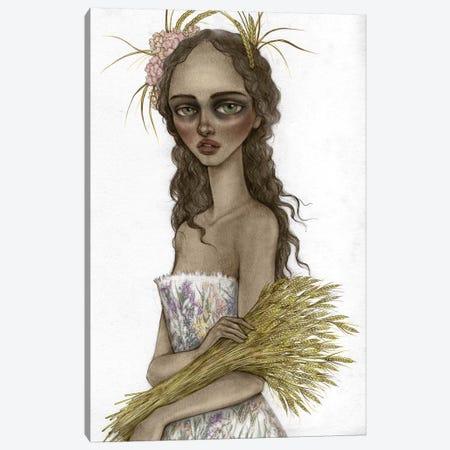 Lady Harvest Canvas Print #NKY19} by Skinny Nicky Art Print