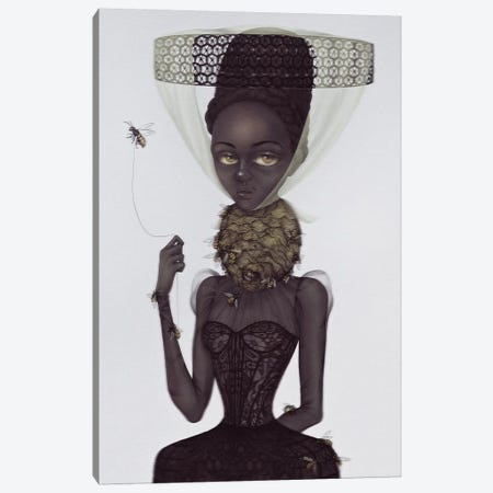 Lady Of The Hive Canvas Print #NKY20} by Skinny Nicky Canvas Art