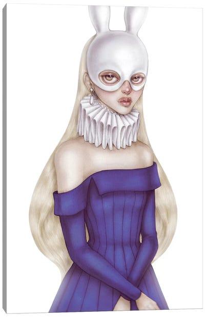 Lady White Hare II Canvas Art Print