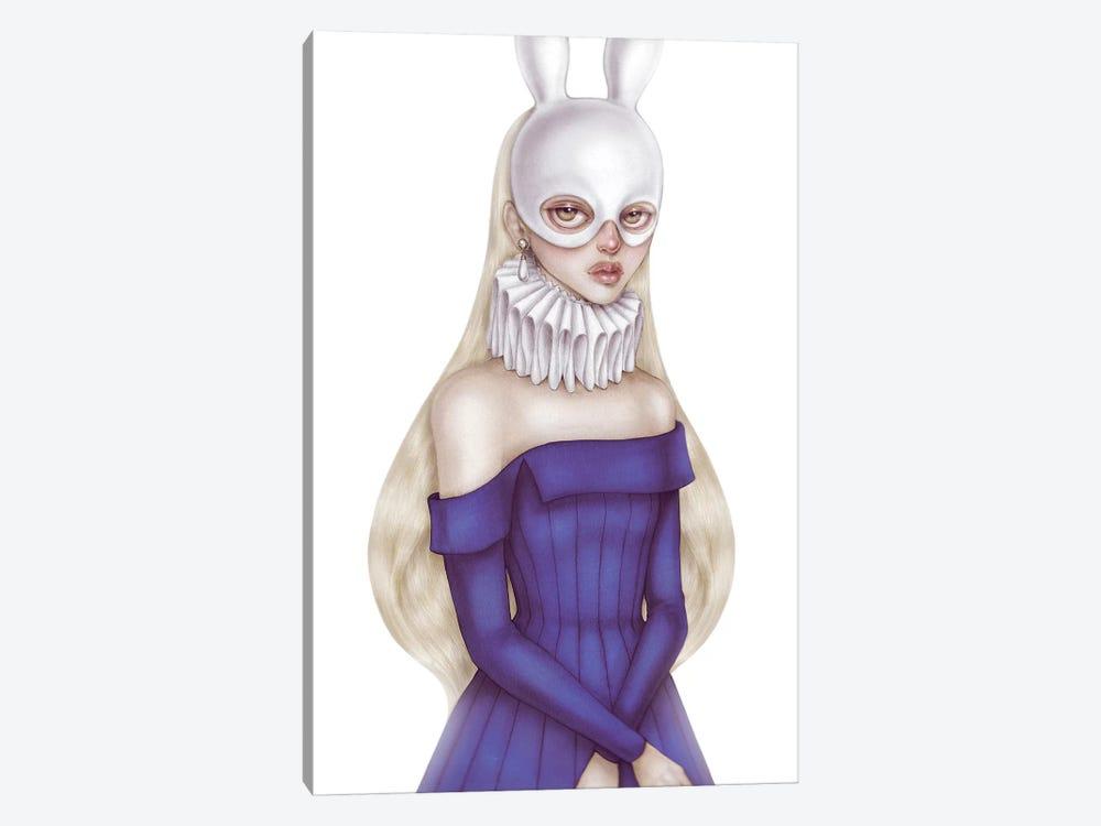 Lady White Hare II by Skinny Nicky 1-piece Art Print