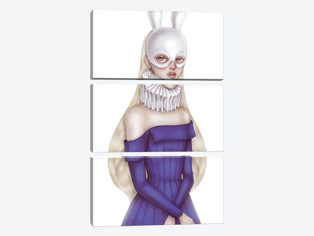 Lady White Hare II by Skinny Nicky 3-piece Art Print