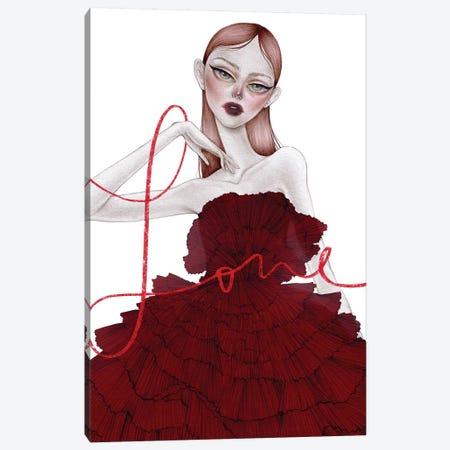 LOVE ME Canvas Print #NKY24} by Skinny Nicky Art Print