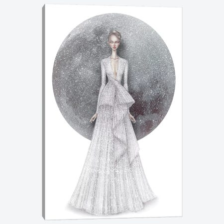 Luna I Canvas Print #NKY25} by Skinny Nicky Canvas Art Print