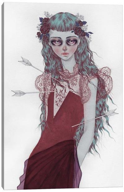 Shot By Cupid Canvas Art Print