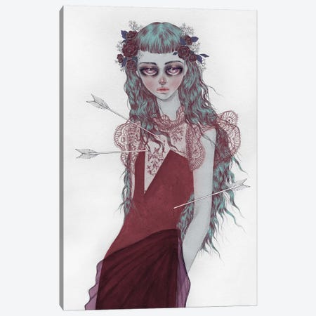 Shot By Cupid Canvas Print #NKY29} by Skinny Nicky Canvas Wall Art