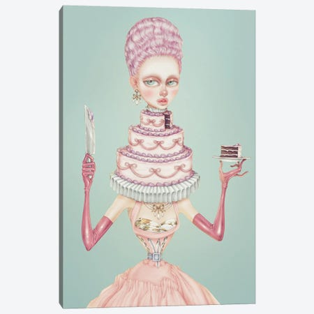Cake Canvas Print #NKY37} by Skinny Nicky Canvas Artwork