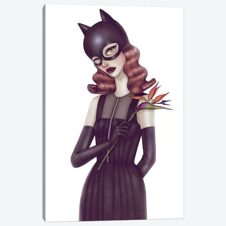 Batgirl I Canvas Print #NKY9} by Skinny Nicky Canvas Art Print
