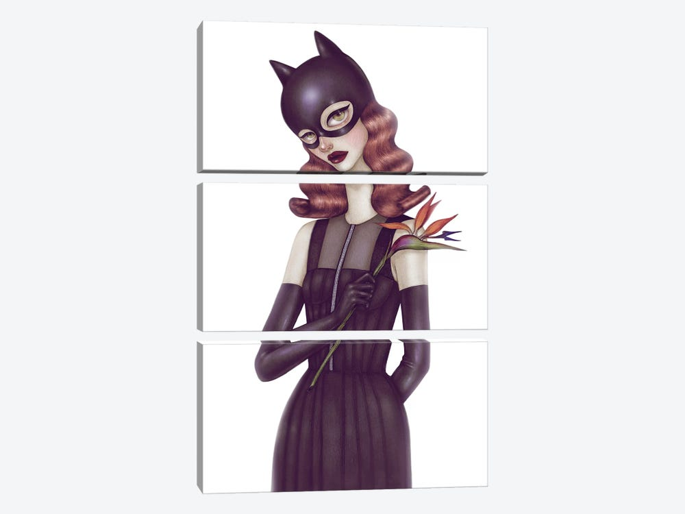 Batgirl I by Skinny Nicky 3-piece Canvas Art Print
