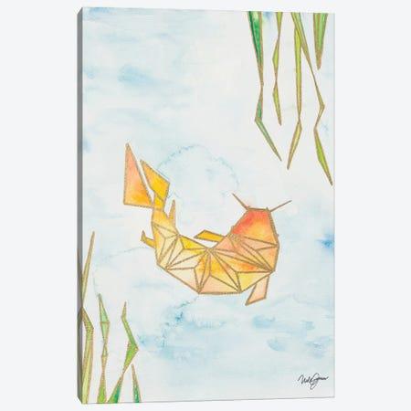 Origami Koi Canvas Print #NLA10} by Nola James Canvas Art