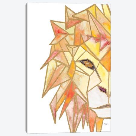 Retro Lion Canvas Print #NLA11} by Nola James Canvas Artwork