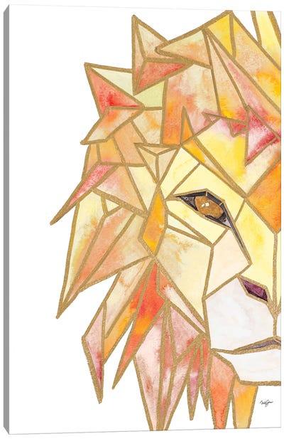 Retro Lion Canvas Art Print