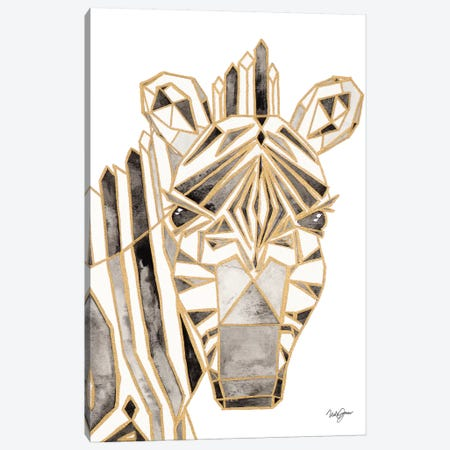 Retro Zebra Canvas Print #NLA12} by Nola James Canvas Art