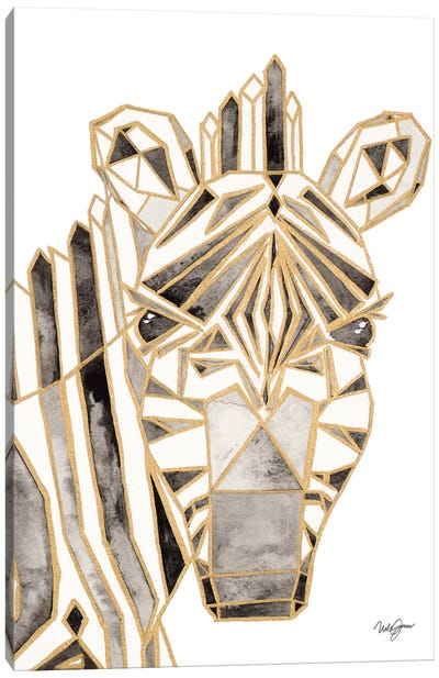Retro Zebra Canvas Art Print