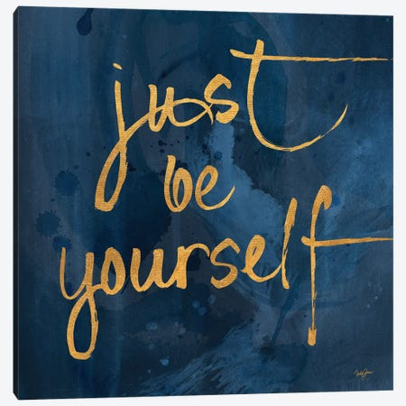 Brave Yourself I Canvas Print #NLA17} by Nola James Canvas Art Print