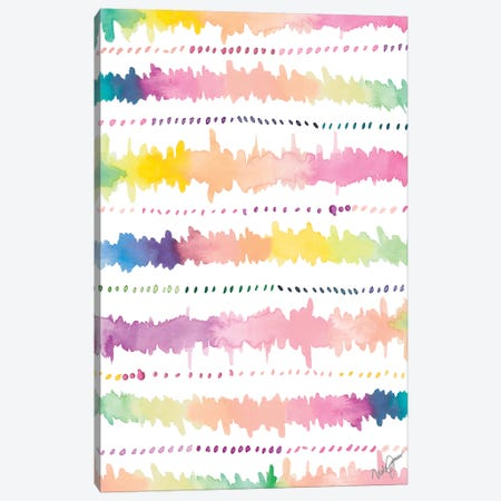 Colorful Bands I Canvas Print #NLA19} by Nola James Canvas Art