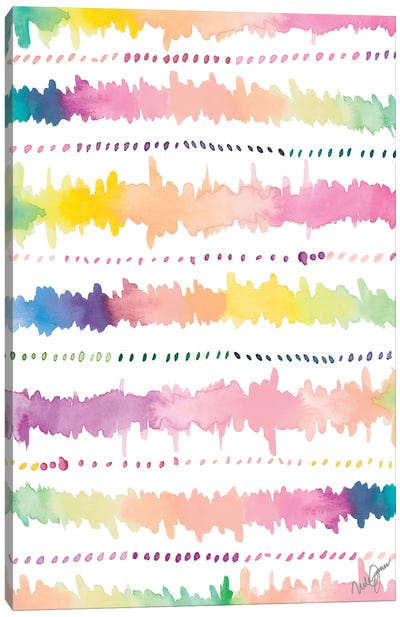 Colorful Bands I Canvas Art Print